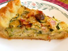 quiche with fat head dough.. smart!