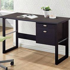 CorLiving WFP-480-D Folio Filing Drawer Desk, Black Espresso