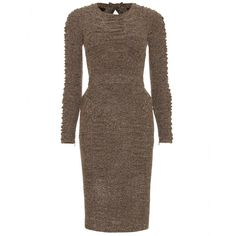 mytheresa.com - Burberry Prorsum - TWEED JERSEY DRESS WITH GATHERED TRIM - Luxury Fashion for Women / Designer clothing, shoes, bags