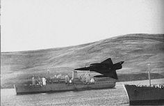Argentine Dagger attacking Royal Navy warships during the Falklands war of 1982