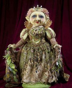 """Troll Queen""  by Arley Berryhill  Gypsy Pamela owns this fabulous creation."