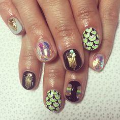 THE YUMA NAIL for @piperpatane's sister Kelly! #nailswag #nails #nailart #nailartclub #swag #COACHELLA