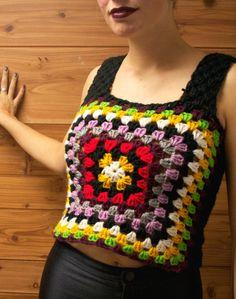 Granny Square Crochet Mini Sweater Vest http://www.etsy.com/listing/118273425/granny-square-crochet-mini-sweater-vest
