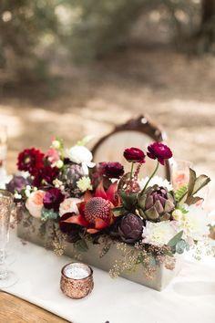 Jewel tone floral inspiration for fall weddings. komanphotography.com