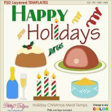 Holiday Christmas Meal Layered Element TEMPLATES #CUdigitals cudigitals.com cu commercial digital scrap #digiscrap scrapbook graphics