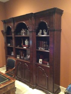 "Antique Bookcase 92 1/2"" x 18"" x 87"""