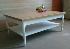 Ława, stolik prowansalski, nogi drewniane Ludwik Vintage Wrocław - image 1