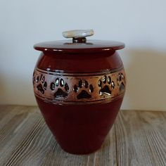 Red Dog Bone Urn