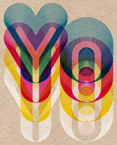 Vibrant typography by Boldover