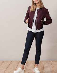 At Stradivarius you'll find 1 Bomber jacket for woman for just 1790 MKD . Visit now to discover this and more JACKETS.