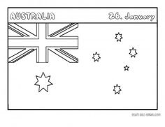 Printable flag of australia coloring page - Printable Coloring Pages For Kids