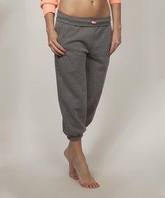 Love this Black Crop Sweatpants by Banana Split on #zulily! #zulilyfinds