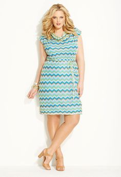 Turquoise Stripe Dress #plus #size