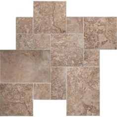 MSI Mediterranean Walnut Pattern Honed-Unfilled-Chipped Travertine Floor and Wall Tile kits / 80 sq. Glass Subway Tile, Mosaic Glass, Mosaic Tiles, Wall Tiles, Travertine Floors, Natural Stone Flooring, Travertine Bathroom, Brick Fireplace Makeover, Thin Brick