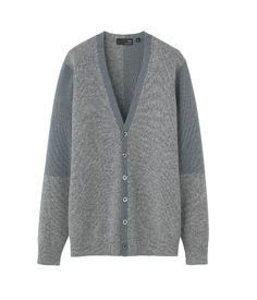 cashmere V neck cardigan(L)