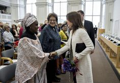 Mary, Crown Princess of Denmark, attended an international conference on health rights, empowerment for women, adolescents, and children at Christiansborg Palace in Copenhague.  The meeting was organized by the United Nations Population Fund (UNFPA).  Princess Mary is patron of the UN Population Fund since May 2010. 12 November 2014.