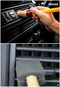 Clean Car AC Vent Brush-20 Car Cleaning Detailing Tips and Tricks