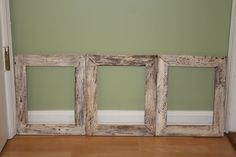 Simple and easy pallet picture frames. You probably already do these, but I thought they were neat.