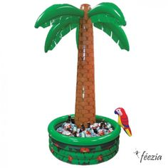 cooler for hawaiin luau!   Glacière Palmier #hawaii #luau #fete