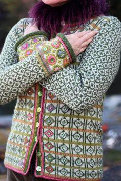 Hippie kofte / Hippie Jacket Design&Photo: Sidsel J.no Yarnkit in webshop sidselhoivik.no Pattern in English, Dutch and Norwegian We ship to Europe, USA, Canada, Australia and New Zealand Fair Isle Knitting Patterns, Knit Patterns, Stitch Patterns, Sewing Patterns, Fair Isle Pullover, Crochet Hooks, Knit Crochet, Crochet Granny, Motif Fair Isle