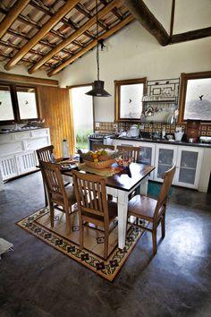 São Lourenço da Serra/SP : Casas rústicas por Bianka Mugnatto Design de Interiores