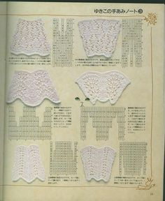 Knitting lace: increasing and decreasing in width (all these swatches look like wedges) Knitting Stiches, Easy Knitting Patterns, Knitting Charts, Lace Patterns, Lace Knitting, Knitting Designs, Knitting Projects, Crochet Stitches, Stitch Patterns