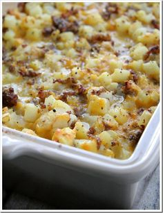 Cheesy Potato Breakfast casserole