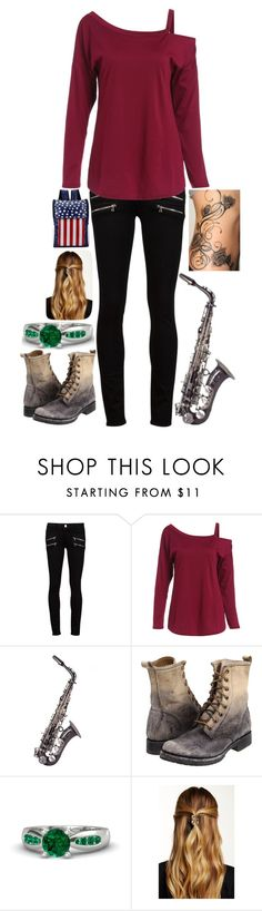 """""""Karey's Tuesday Outfit"""" by mmgio on Polyvore featuring Paige Denim, Frye, Gemvara, Natasha Accessories and Chicnova Fashion"""