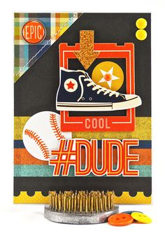This masculine birthday card is sure to please a baseball player or avid fan. #thecardkiosk