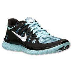 Women's Nike Free 5.0+ Premium Running Shoes| FinishLine.com | Glacier Ice/White/Black                  GETTING THESE!