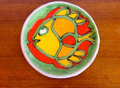 Need a splash of color?  Vintage Desimone Italy Fish Plate for J Magnin by HotCoolVintage