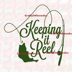 Keeping It Reel Fishing SVG Scalable Vector by CraftyLittleNodes SVG Cricut explore silhouette cameo projects Fly Fishing Tips, Fishing Quotes, Fishing Basics, Fishing Kit, Ice Fishing, Bass Fishing, Cricut Vinyl, Svg Files For Cricut, Silhouette Cameo Projects