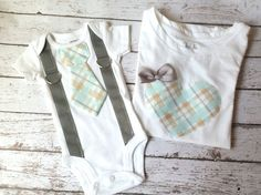 Big sister Little brother shirt & bodysuit set tie by mmhandmades