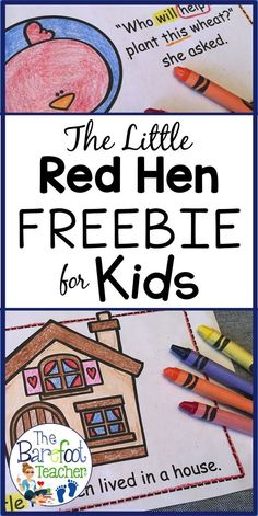 My Preschool and Kindergarten kids love to do activities that go with the Little Red Hen. This FREE Emergent Reader download has easy-to-read text & includes 20 pages to print! It's also perfect for high frequency word practice. #littleredhen #emergentreader #freeresoruces #kindergartenfreebies #highfrequencywords