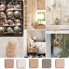 """Pink Champagne"" Mood Board Monday via @HGTV.  #Pink #MoodBoardMonday #InteriorDesign"