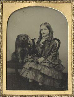 Daguerrotype, Girl and Her Dog
