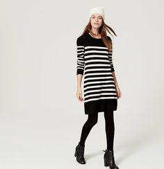 Striped Button Sweater Dress