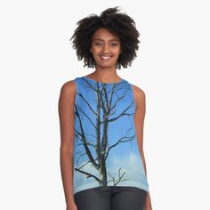 'Dead Tree' Sleeveless Top by MyGrandpa Tank Man, Printed, Awesome, Nature, Mens Tops, Shopping, Products, Women, Art