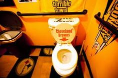 If I had my way and had a Steelers Man Cave this would be the bathroom in it