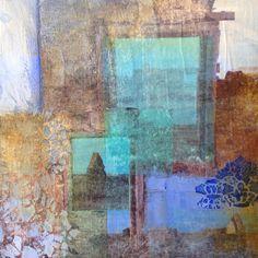 Threshold in a dream ll, mixed media, 20x20cm.