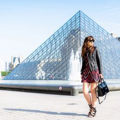 "Nikita Wong on Instagram: ""On the blog today. ❤️ Finally a post at the louvre! Photo shot by the incredibly talented @la_gomme Dress @tally_weijl Jacket @bodaskins Shoes @fashionchick_fr Bag @florianlondonuk #mode #style #look #paris #meetmeinparee #fashion #tallyweijl"""