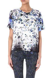 PREEN Floral-print silk top
