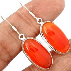 Carnelian 925 Sterling Silver Earrings Jewelry CRNE234 - JJDesignerJewelry