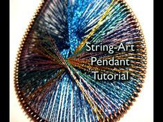 How to Create an exotic string art pendant for jewelry « Jewelry :: WonderHowTo Thread Jewellery, Wire Jewelry, Jewlery, String Art Tutorials, Beaded Jewelry Designs, Thread Art, Earring Tutorial, Beads And Wire, Diy Earrings