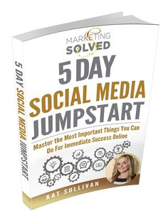 The Complete Social Media Guide & Workbook to getting a jumpstart in 5 days. This guide has a comprehensive social media strategy, done for you calendar, goal setting worksheets, tons of tutorials and examples, + more.   Awesome resource for anyone using social media to grow their business.