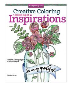 Look at this #zulilyfind! Creative Coloring a Second Cup of Inspiration #zulilyfinds