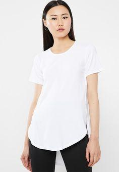 High-low T-shirt - white. T Shirt Vest, Cami, High Low, V Neck, Sleeves, Mens Tops, Shirts, Women, Fashion