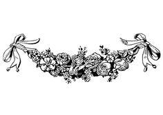krans - Google-søk Lotus Flower, Monochrome, Black And White, Flowers, Printables, Google, Tatoo, Fotografia, Manualidades