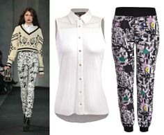 Logra este look de pasarela con nuestros graffiti pants y blusa de la nueva colección a la venta en El Palacio de Hierro.