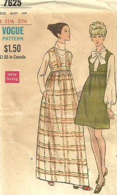 Vogue 7625 Empire Waist Jumper Dress